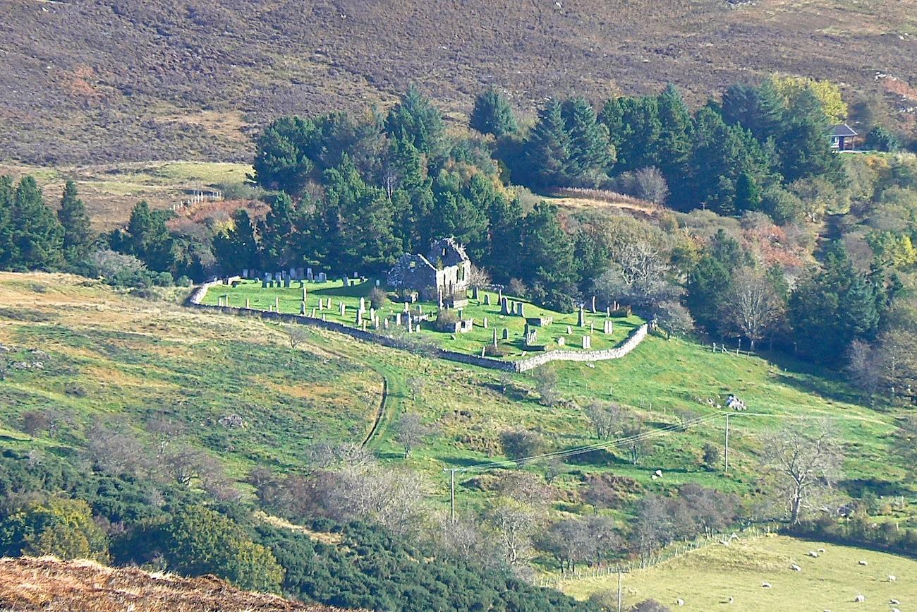 St Comgan's church overlooks Kilchoan village.
