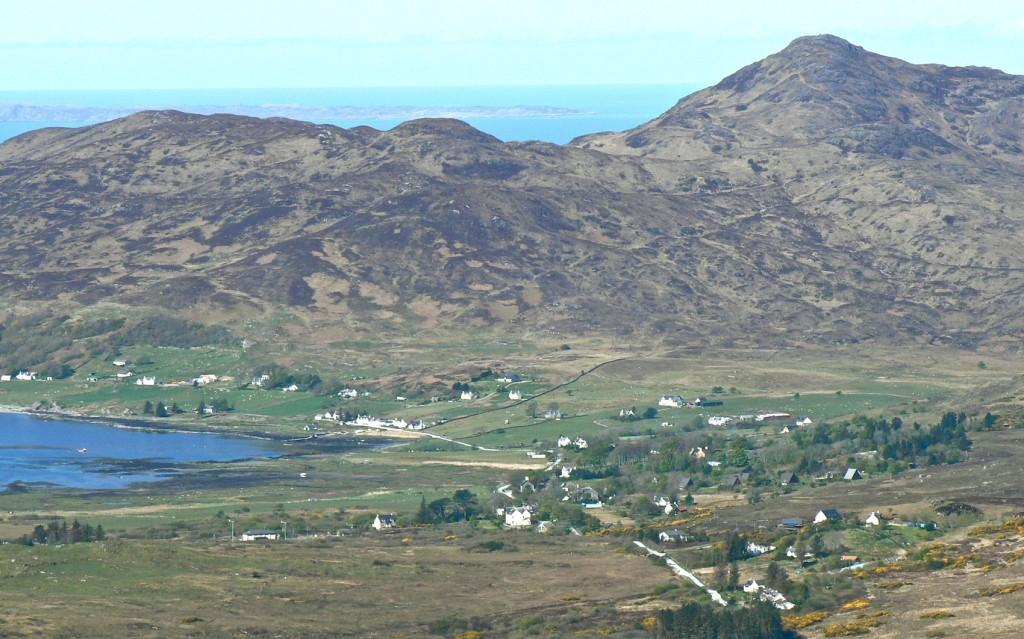 Kilchoan village from Beinn na h-Urchrach