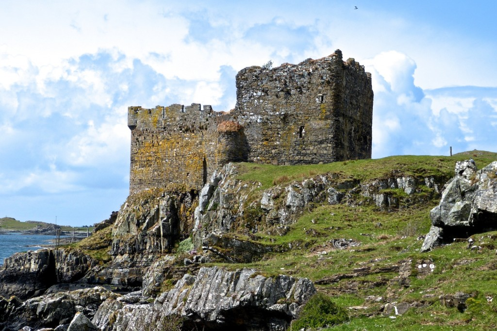 Mingary Castle in 2013, before restoration commenced
