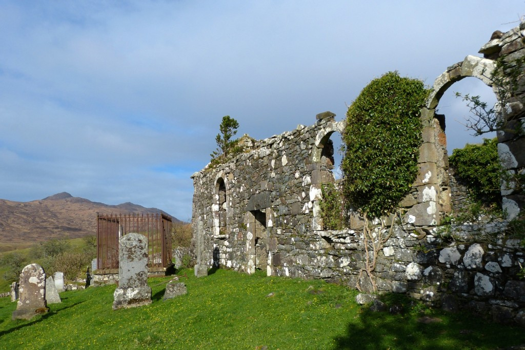 The south wall of St Comghan's