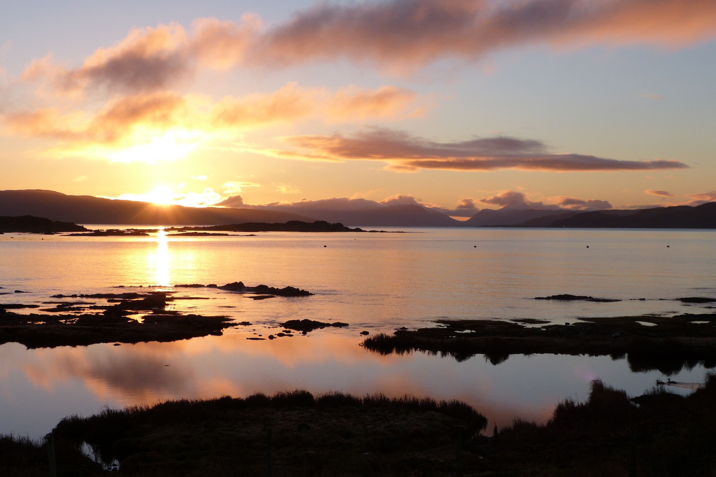 Sunrise across Kilchoan Bay
