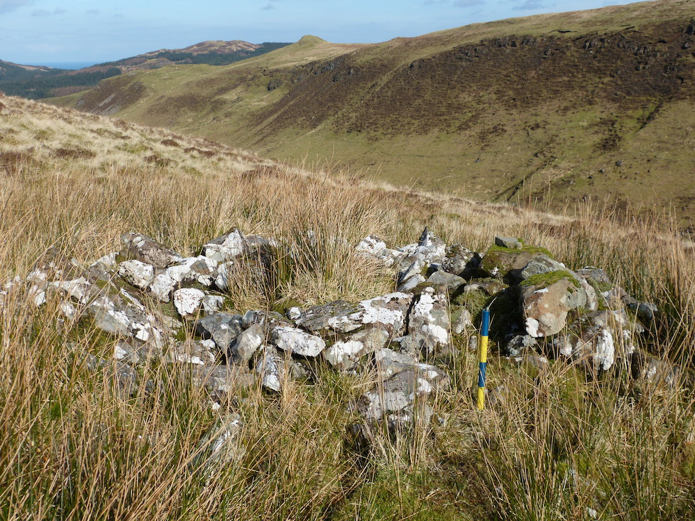 Remains of a shilling hut near Ben Hiant
