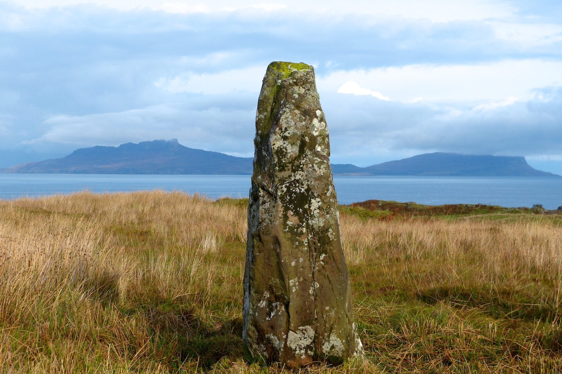 Bronze Age standing stone at Branault